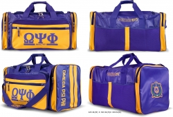 View Buying Options For The Omega Psi Phi Divine 9 S2 PU Leather Duffle Bag