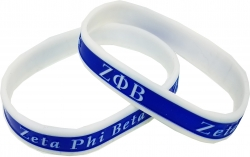 View Buying Options For The Zeta Phi Beta 2-Tone Color Silicone Bracelet [Pre-Pack]