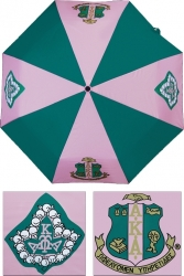 View Buying Options For The Alpha Kappa Alpha Wind Resistant Auto Open Jumbo Umbrella