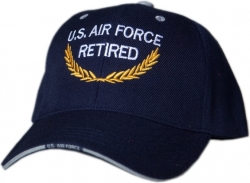 View Buying Options For The U.S. Air Force Retired Gold Leaf Mens Cap