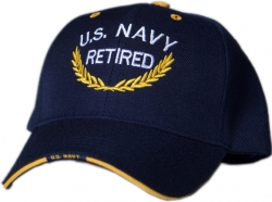 View Buying Options For The U.S. Navy Retired Gold Leaf Mens Cap