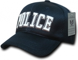 View Buying Options For The RapDom Police Text Public Safety Mens Air Mesh Cap
