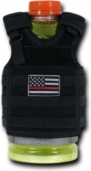 View Buying Options For The RapDom Thin Red Line Deluxe Tactical Mini Vest Bottle Koozie