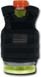 View Buying Options For The RapDom USA Flag Deluxe Tactical Mini Vest Bottle Koozie