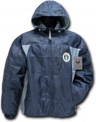 View Buying Options For The Air Force 2-Tone Zip-Up Hooded Mens Windbreaker Jacket