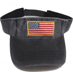 View Buying Options For The US Flag Pigment Washed Sun Visor Mens Cap