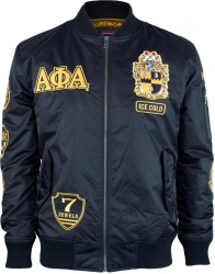 View Buying Options For The Alpha Phi Alpha Divine 9 Bomber Flight Mens Jacket