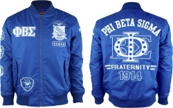 View Buying Options For The Phi Beta Sigma Divine 9 Bomber Flight Mens Jacket