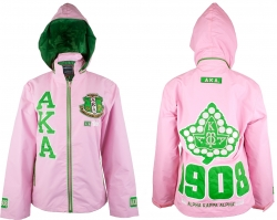 View Buying Options For The Alpha Kappa Alpha Divine 9 S5 Hooded Ladies Windbreaker Jacket