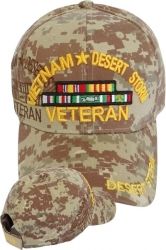 View Buying Options For The Vietnam + Desert Storm War Veteran Ribbon Shadow Mens Cap