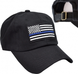 View Buying Options For The Thin Blue Line US Flag Relaxed Cotton Mens Cap