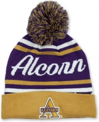 View Buying Options For The Alcorn State Braves S9 Mens Cuff Beanie Cap with Ball