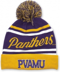 View Buying Options For The Prairie View A&M Panthers S9 Mens Cuff Beanie Cap with Ball