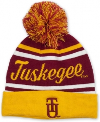 View Buying Options For The Tuskegee Golden Tigers S9 Mens Cuff Beanie Cap with Ball
