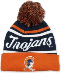 View Buying Options For The Virginia State Trojans S9 Mens Cuff Beanie Cap with Ball