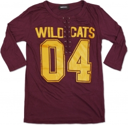 View Buying Options For The Bethune-Cookman Wildcat Ladies Football Lace Jersey Tee