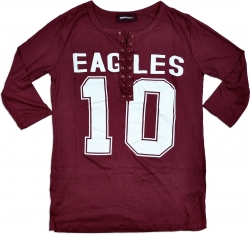 View Buying Options For The North Carolina Central Eagles Ladies Football Lace Jersey Tee