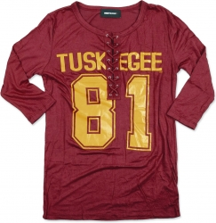 View Buying Options For The Tuskegee Golden Tigers Ladies Football Jersey Tee