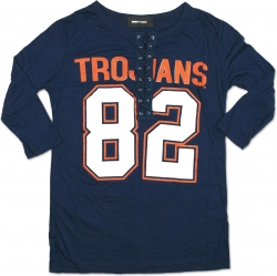 View Buying Options For The Virginia State Trojans Ladies Football Lace Jersey Tee