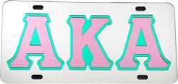 View Buying Options For The Alpha Kappa Alpha Outlined Mirror License Plate