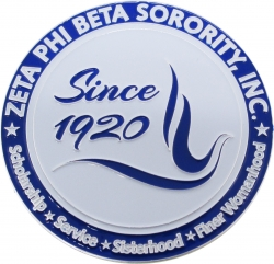 View Buying Options For The Zeta Phi Beta 3D Dove Round Car Badge Emblem