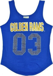 View Buying Options For The Albany State Golden Rams S2 Rhinestone Ladies Tank Top