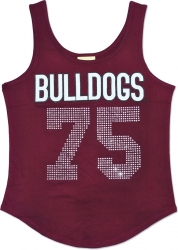 View Buying Options For The Alabama A&M Bulldogs S2 Rhinestone Ladies Tank Top