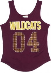 View Buying Options For The Bethune-Cookman Wildcats S2 Rhinestone Ladies Tank Top