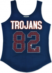 View Buying Options For The Virginia State Trojans S2 Rhinestone Ladies Tank Top