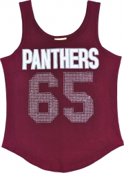 View Buying Options For The Virginia Union Panthers S2 Rhinestone Ladies Tank Top