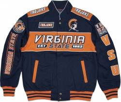 View Buying Options For The Virginia State Trojans S11 Mens NASCAR Racing Twill Jacket