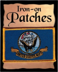 View Buying Options For The United States Navy Banner Flag Iron-On Patch [Pre-Pack]