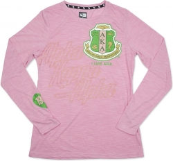 View Buying Options For The Alpha Kappa Alpha Divine 9 Ladies Long Sleeve Tee