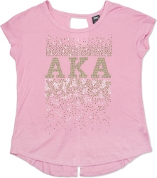 View Buying Options For The Alpha Kappa Alpha Divine 9 S3 Ladies Rhinestone Tee