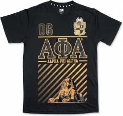 View Buying Options For The Alpha Phi Alpha Foil Print Divine 9 S12 Mens Tee