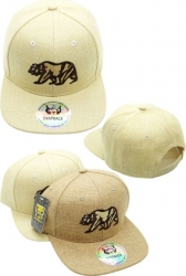 View Buying Options For The California Bear Linen Snapback Mens Cap
