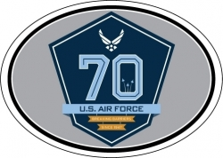 View Buying Options For The U.S. Air Force 70th Anniversary Oval Magnet [Pre-Pack]