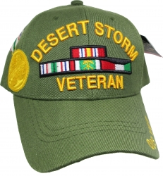 View Buying Options For The Desert Storm Veteran Ribbons with Medal Mens Cap