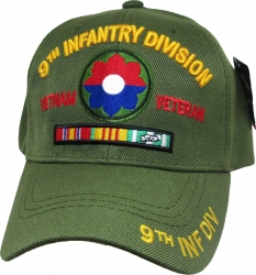 View Buying Options For The 9th Infantry Division Vietnam Veteran Ribbon Mens Cap