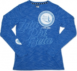 View Buying Options For The Zeta Phi Beta Divine 9 Ladies Long Sleeve Tee