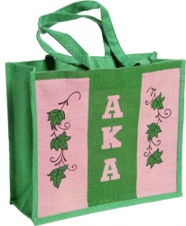 View Buying Options For The Alpha Kappa Alpha Ivy Leaf Ladies Tote Jute Bag