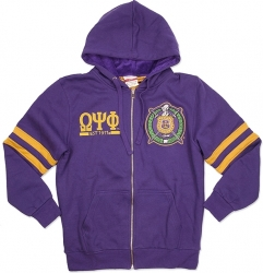 View Buying Options For The Omega Psi Phi Divine 9 Mens Zip-Up Hoodie Jacket