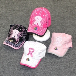 View Buying Options For The Pink Ribbon Thick Stitch and Butterfly Wing Ladies Cap