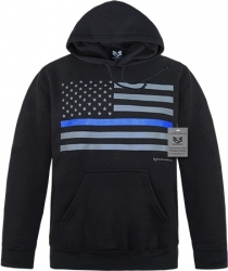 View Buying Options For The RapDom Thin Blue Line Graphic Mens Pullover Hoodie