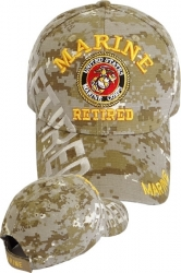 View Buying Options For The Marine Retired Text Shadow Mens Cap