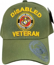 View Buying Options For The Disabled Marine Veteran Shadow On Bill Mens Cap