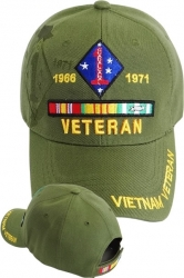 View Buying Options For The 1st Marine Division Vietnam Veteran Ribbon Shadow Mens Cap
