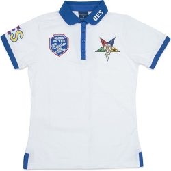 View Buying Options For The Eastern Star Divine Ladies Polo Shirt