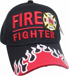 View Buying Options For The Fire Fighter Fire Rescue Log Flames On Bill Mens Cap