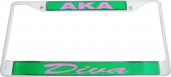 View Buying Options For The Alpha Kappa Alpha Diva Domed License Plate Frame